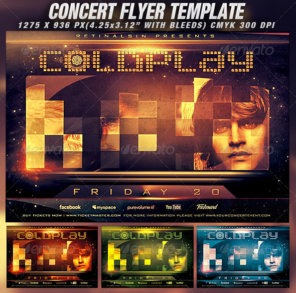 GraphicRiver Concert Flyer Template v.2 1359358