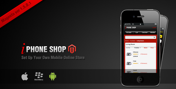 iPhone Shop Magento Theme