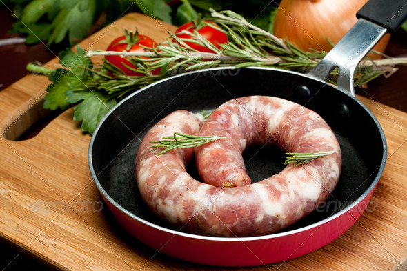 pork sausage - Stock Photo - Images