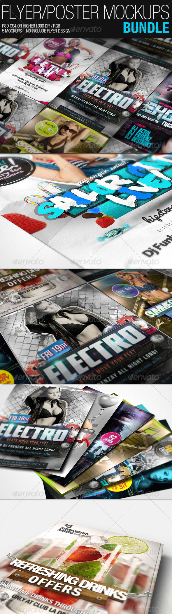 Flyer Poster Mockups Bundle - Flyers Print