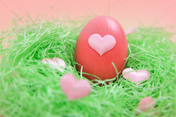 colored Easter eggs - Stock Photo - Images