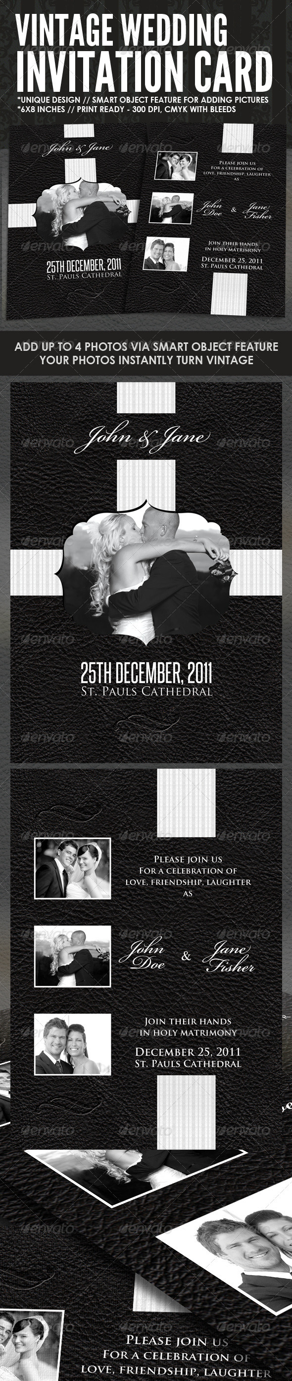 GraphicRiver Vintage Wedding Card 918564