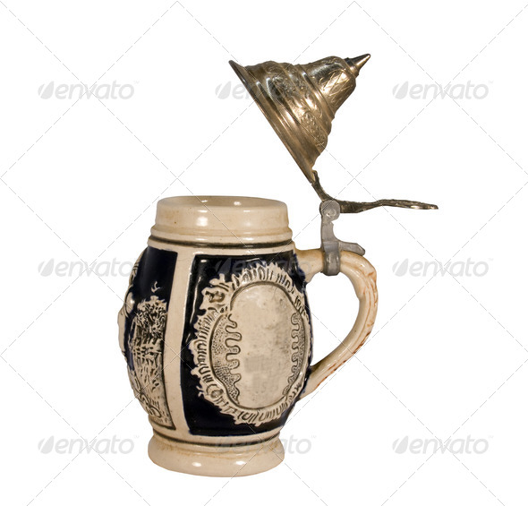 german beer stein - Stock Photo - Images