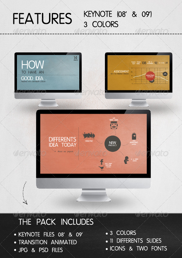 Presentation Vintage Style - Business Keynote Templates