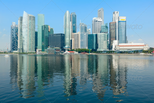 Singapore skyline - Stock Photo - Images