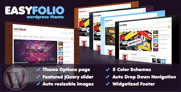 EASYFOLIO - theme preview screenshot