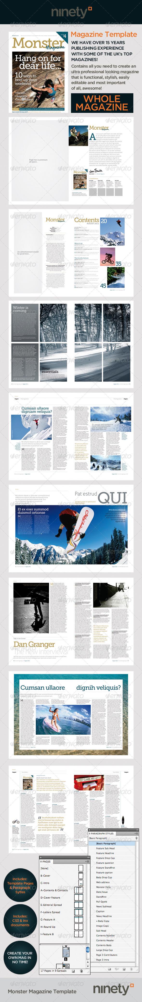 GraphicRiver Monster Magazine Template 165195