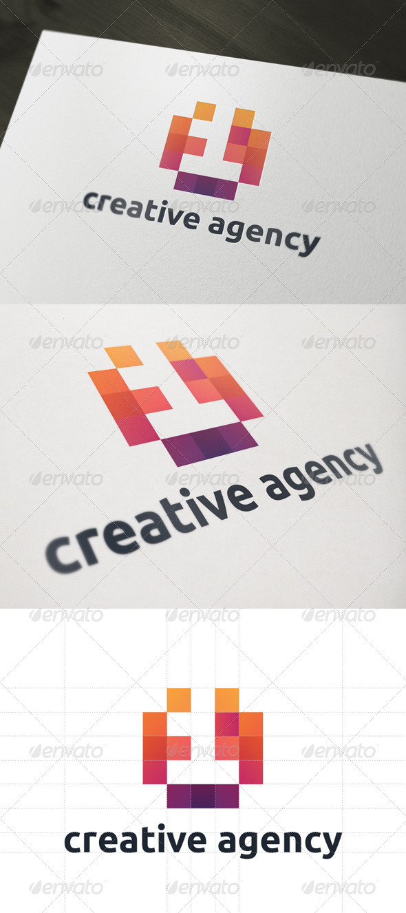 One Creative Agency Logo - Numbers Logo Templates