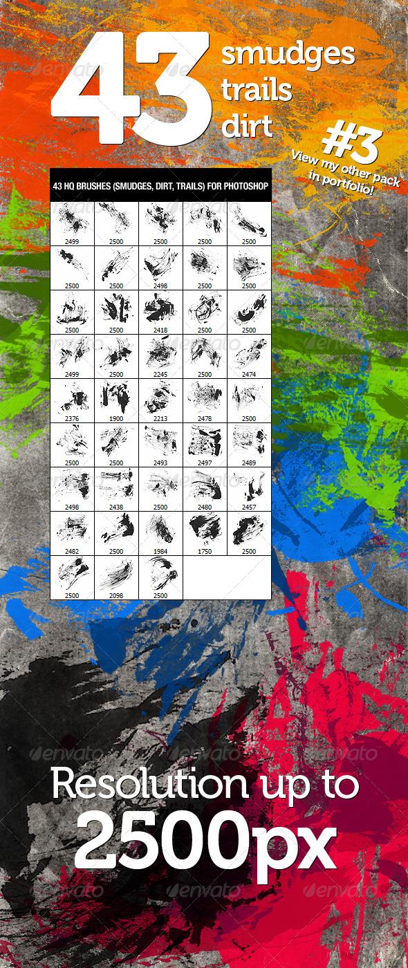 GraphicRiver 43 Dirt Smudges & Trails 3 233980