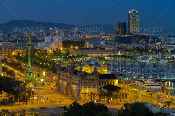 Stock Photo - PhotoDune panorama of the city of Barcelona Spain 2013395