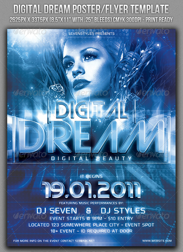 GraphicRiver Digital Dream Poster Flyer Template 151597