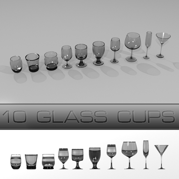 3DOcean Glass Cups 76920