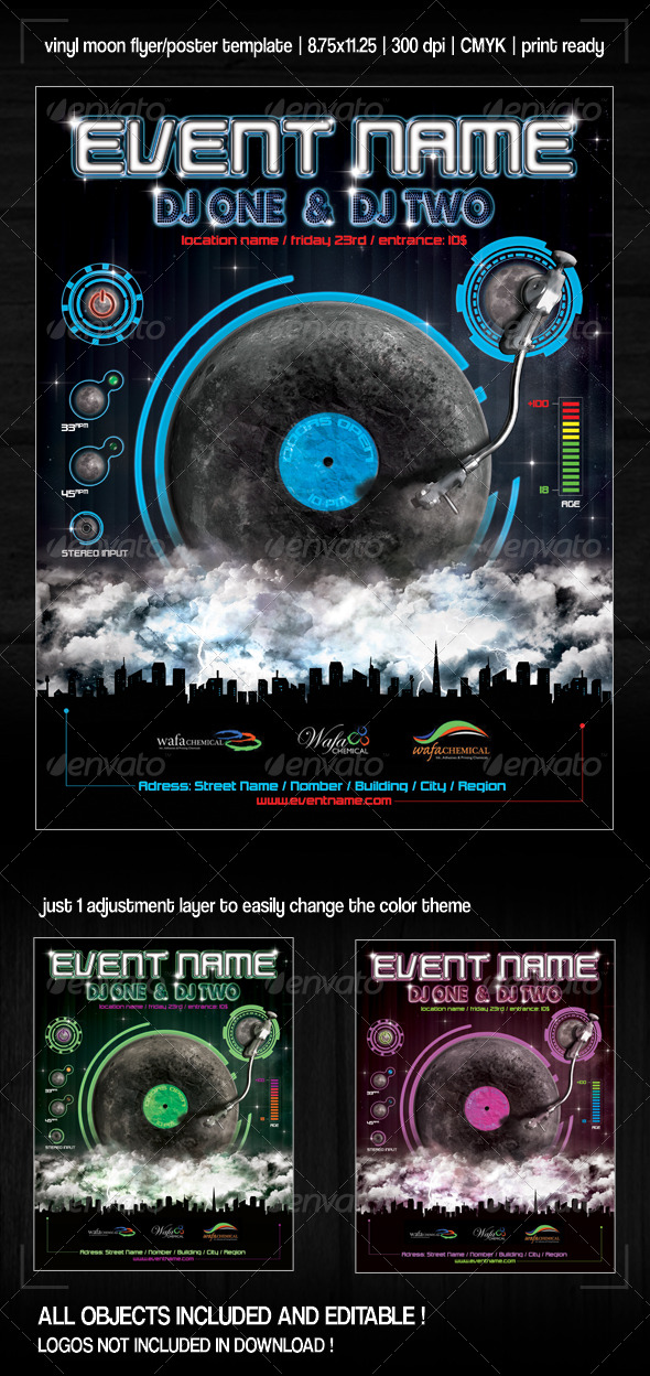 Nightclub Party Poster/Flyer - Clubs &amp; Parties Events