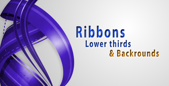 After Effects Project - VideoHive RIBBONS Lower thirds & Backgrounds AE project 234265
