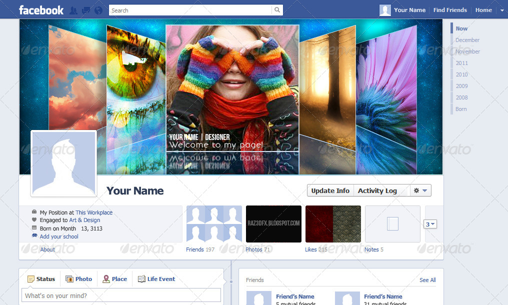 Coverflow Facebook Timeline Cover