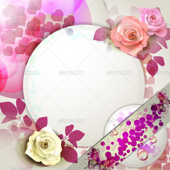GraphicRiver Background with Roses 2022548