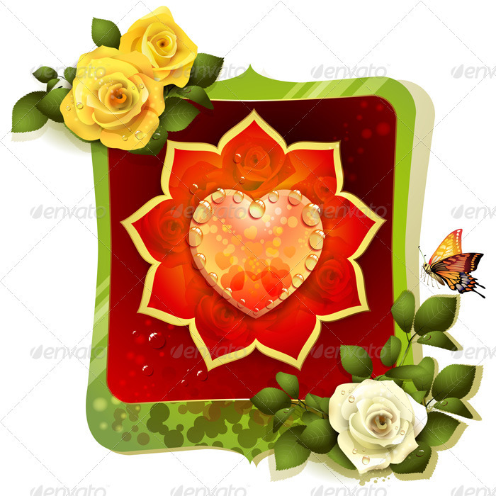 GraphicRiver Heart with Roses 2022660