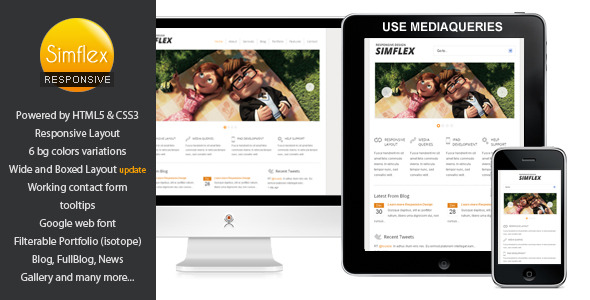 Simplex - Fully Responsive Business Template -