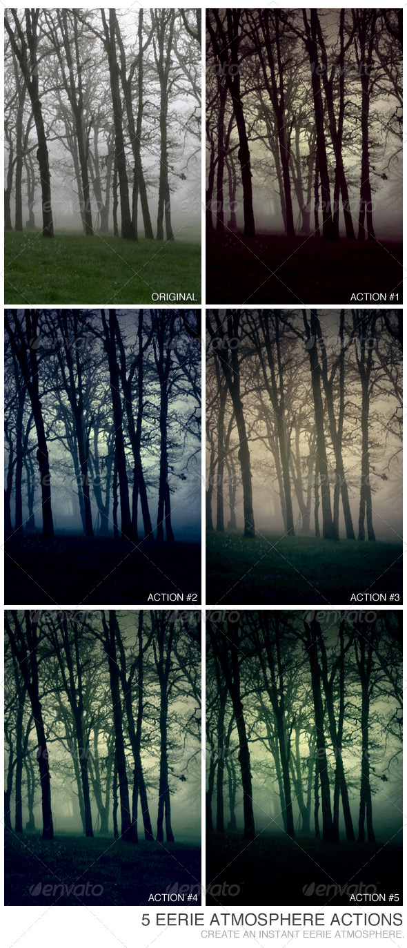 5 Eerie Atmosphere Actions - Photo Effects Actions
