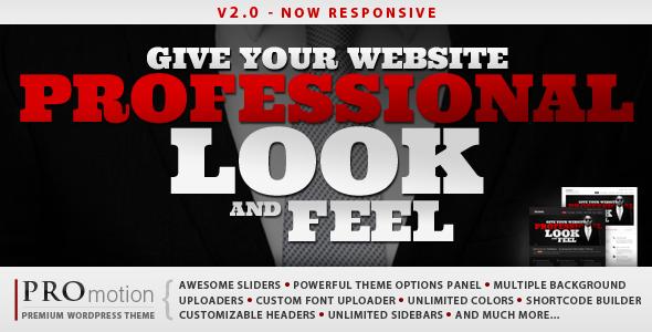 ThemeForest ProMotion Responsive WordPress Theme 1965786