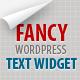 Fancy Text Widget
