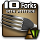 Ten Forks with Attitude - GraphicRiver Item for Sale
