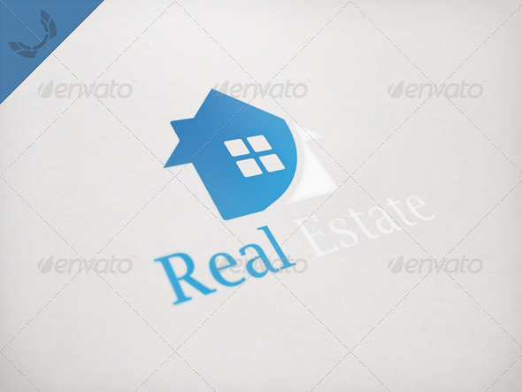 Simple Real Estate Logo - Vector Abstract