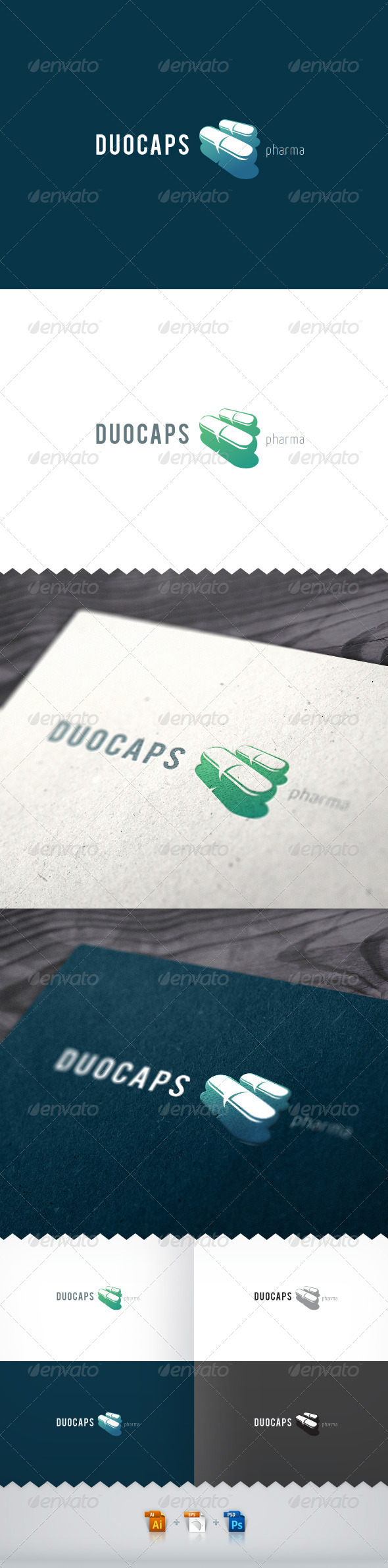 Duocaps Pharma Logo - Objects Logo Templates