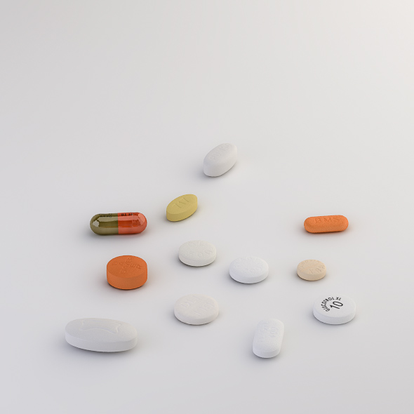 Pills Collection F-L - 3DOcean Item for Sale