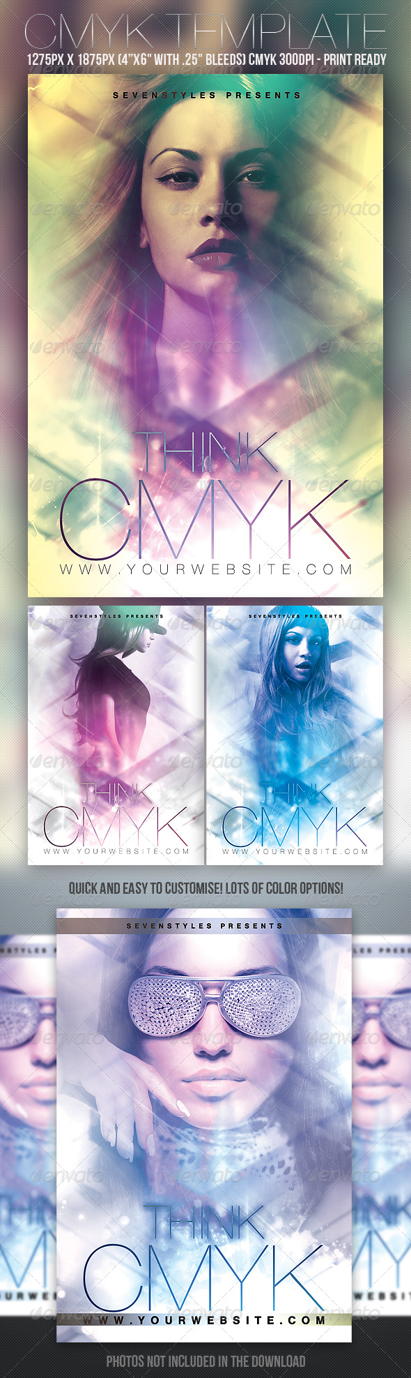 CMYK Flyer Template - Clubs & Parties Events