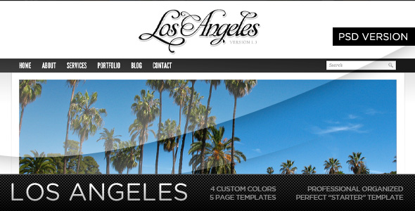 Los Angeles - A Premium PSD Template