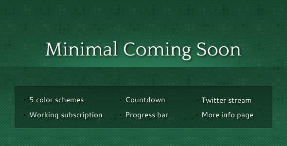 ThemeForest Minimal Coming Soon 233228