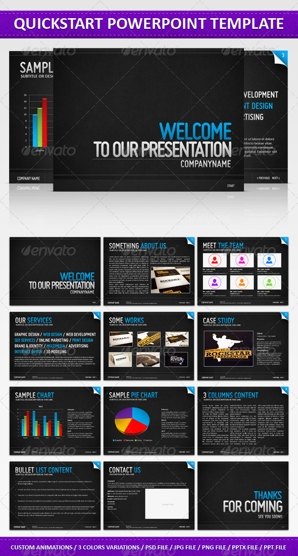 Quickstart PowerPoint Presentation - Powerpoint Templates Presentation Templates