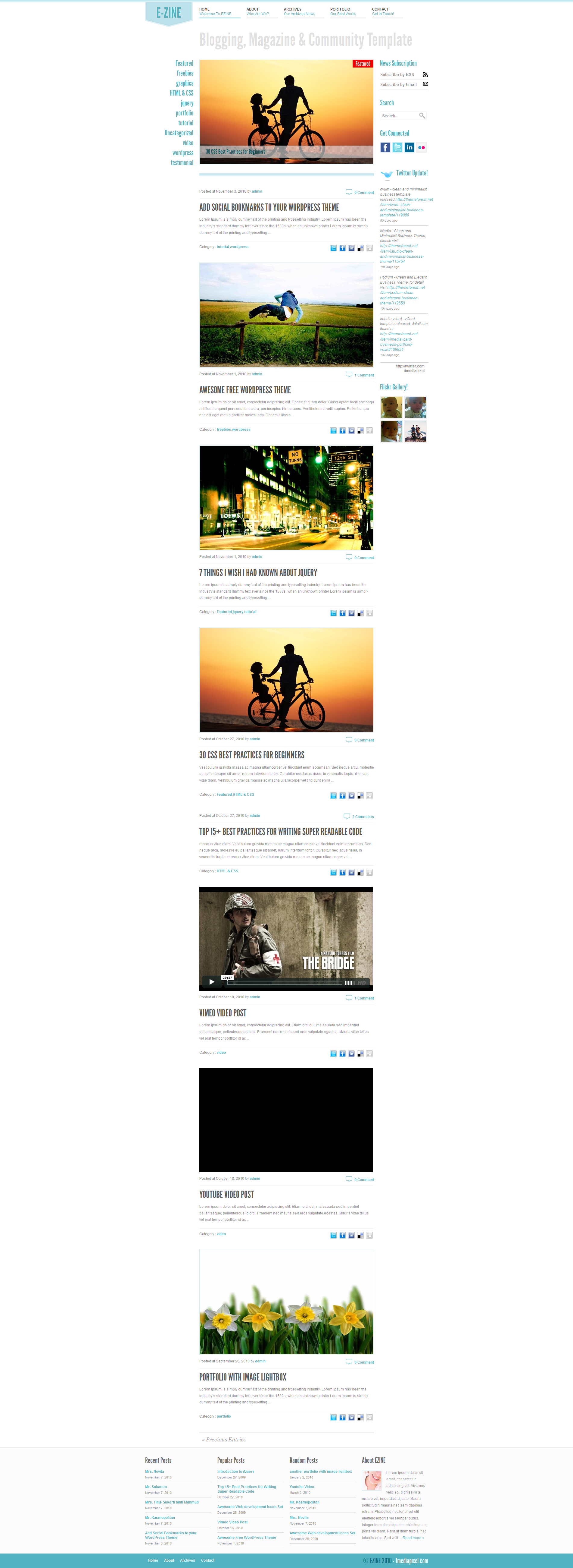EZINE - 4 in 1 Wordpress Theme