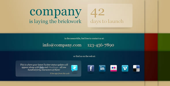 Brickwork - Under construction page template - Theme preview