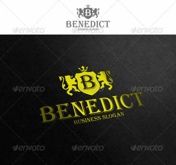 GraphicRiver B heraldic crest Logo Template 2032962
