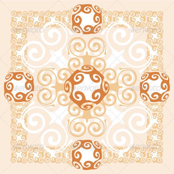 Abstract Background Ornament Design - Flourishes / Swirls Decorative