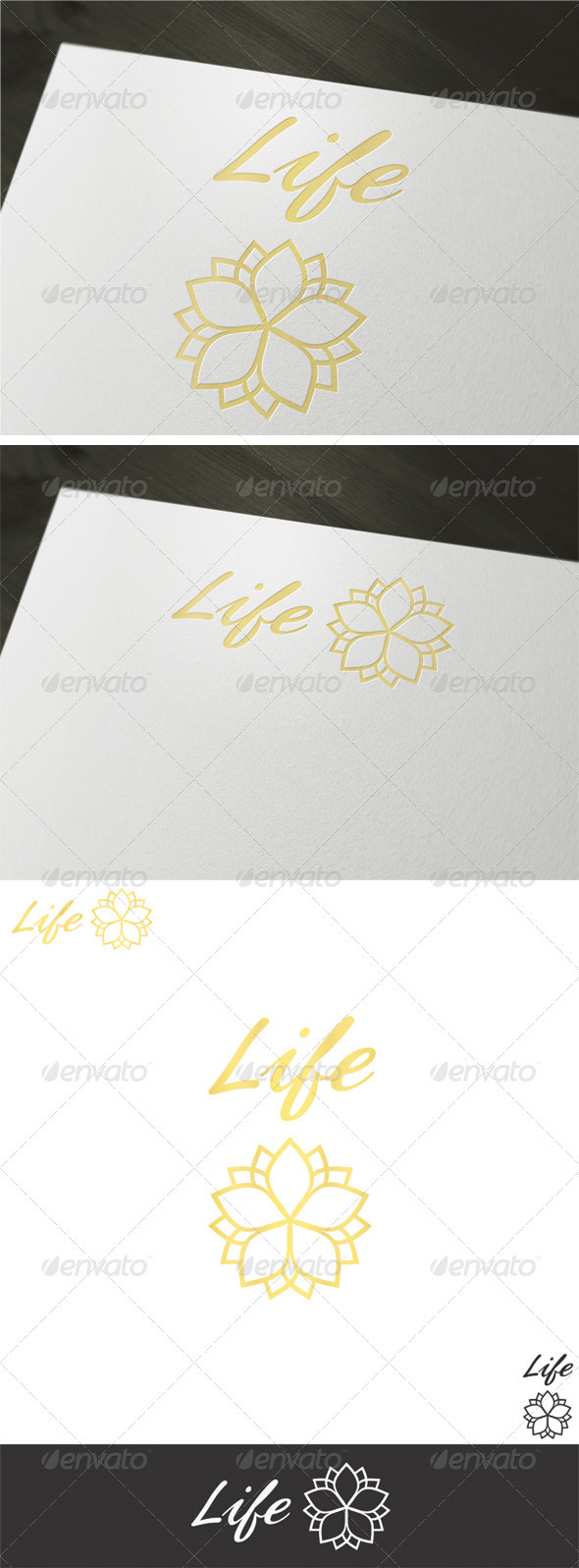 Life Logo Template - Vector Abstract