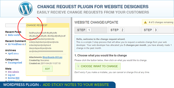 CodeCanyon Change Request for all Web Designers 236441