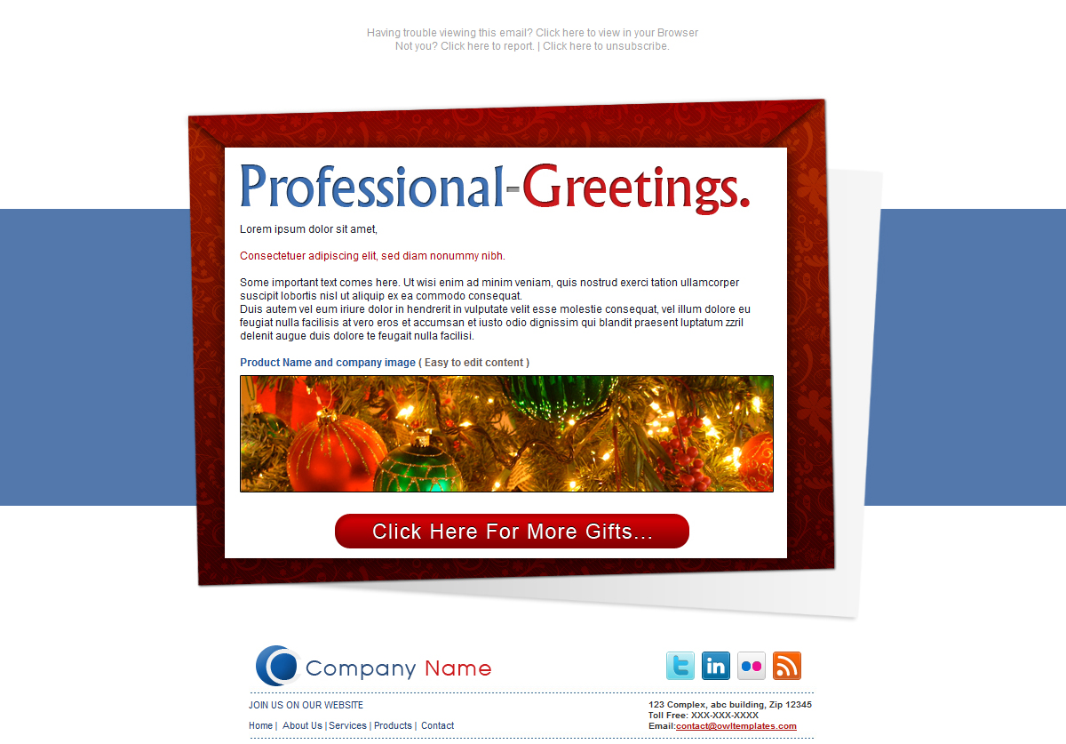 Professional Greetings - Newsletter - Email