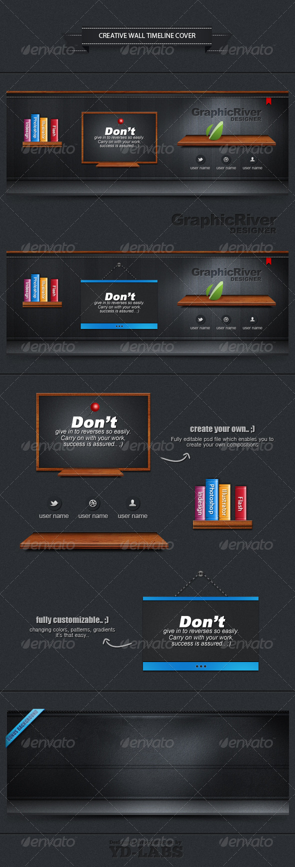 GraphicRiver Creative Wall Timeline Cover 2012256