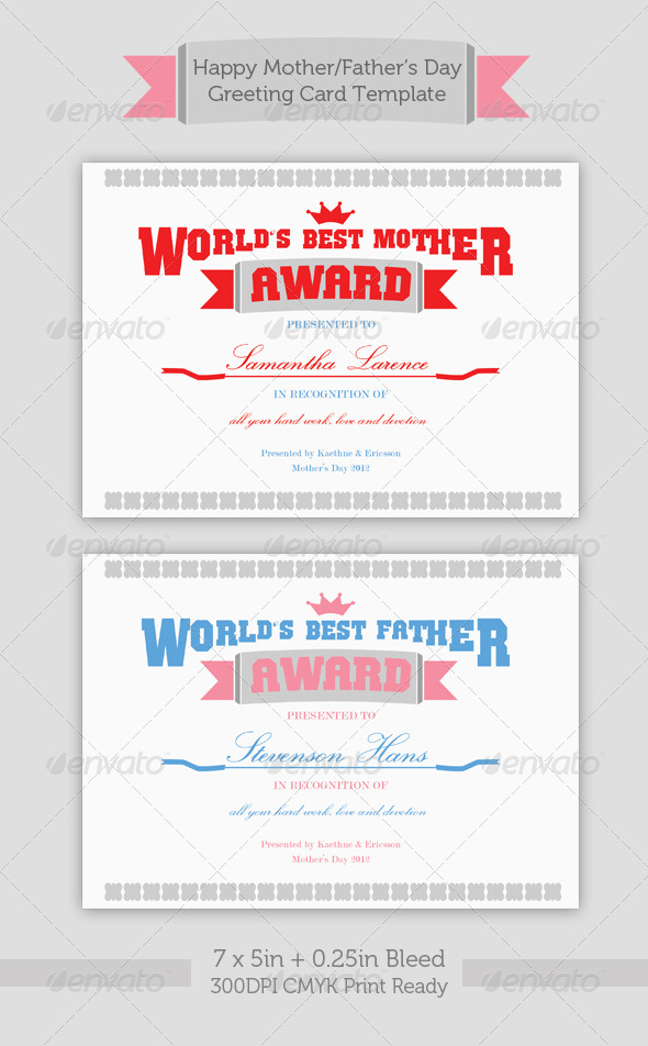 Mother/Father's Day Greeting Card - Holiday Greeting Cards