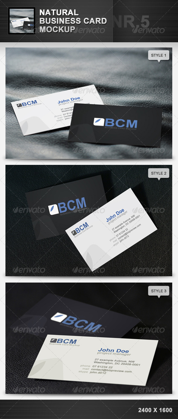 GraphicRiver Natural Business Card Mockup 5 1963260