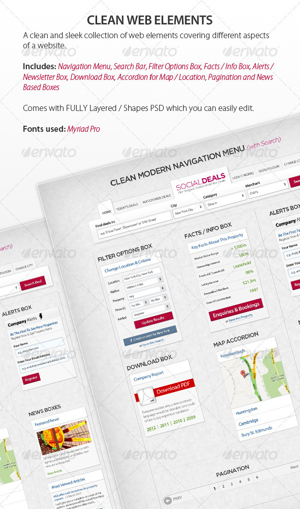 Clean Web Elements - Miscellaneous Web Elements