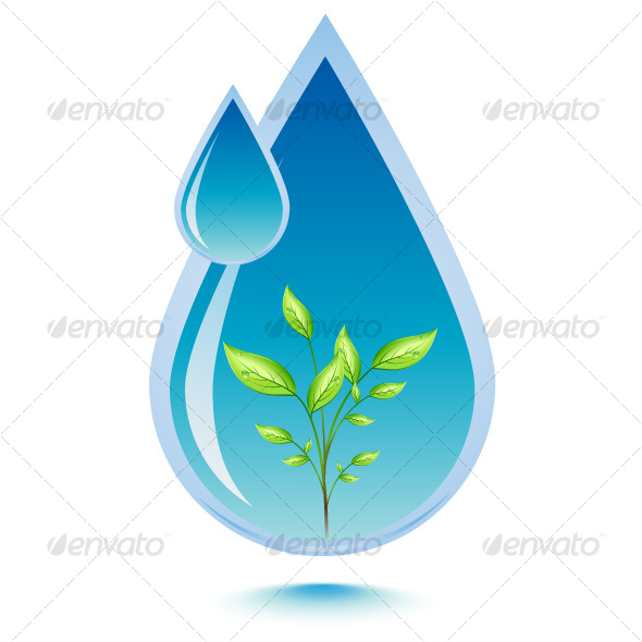 GraphicRiver Water and leaf 77587