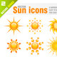 Sun icons - GraphicRiver Item for Sale