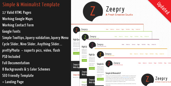 Zeepry - Simple Minimalist Template (Corporate)