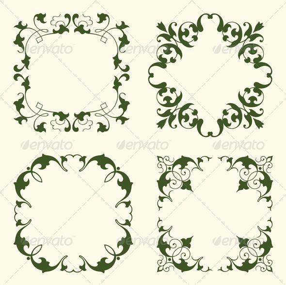 GraphicRiver Floral Frames 2036518
