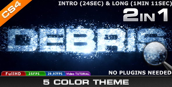 After Effects Project - VideoHive Debris 237088
