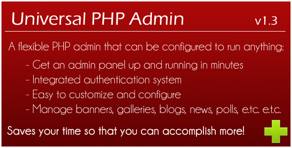 Universal PHP Admin - CodeCanyon Item for Sale